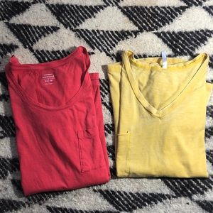 Tops - T-shirts-2, Old Navy & poof, Size XS & S
